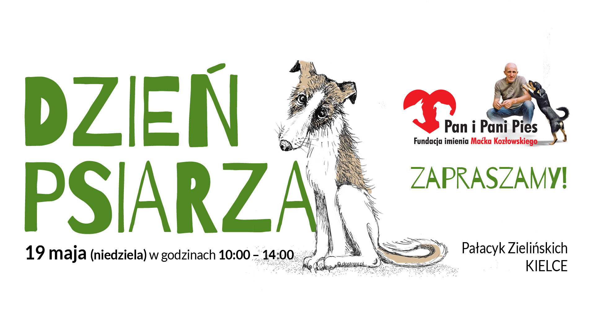 DzienPsiarza zaproszenie - Dzień Psiarza - tojuż niedługo!!!! 19 maj, sobota, Pałacyk Zielińskich wKielcach!